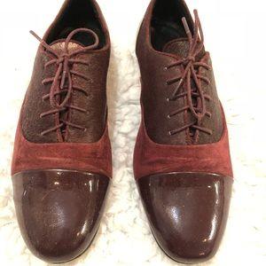 Shoes - Blood Oxfords w/ calf fur